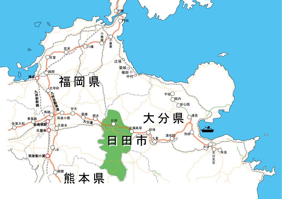 日田市アクセスマップ